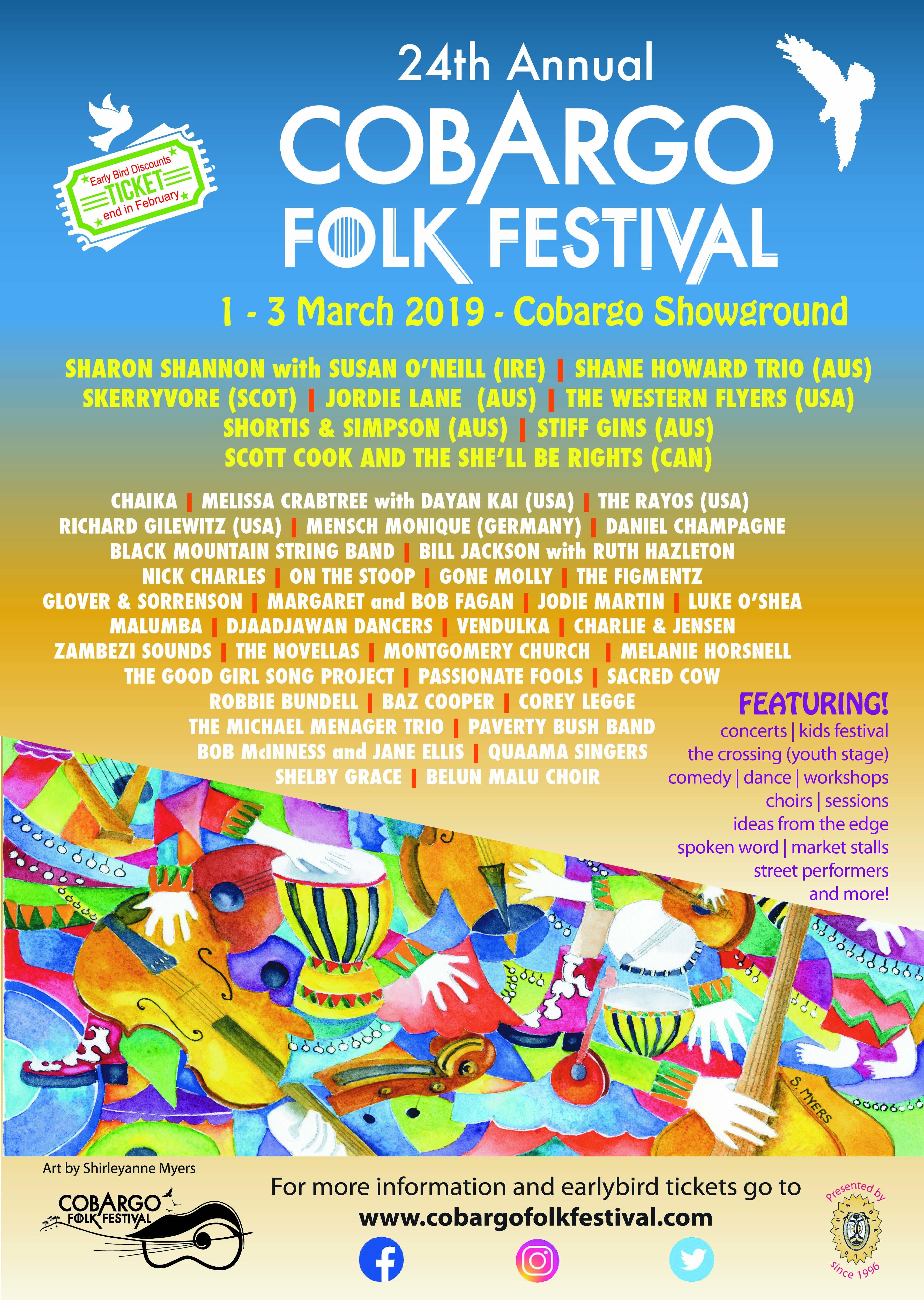 Folk Festival 2020.25th Cobargo Folk Festival 28 Feb 1 March 2020 Cobargo
